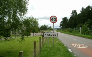 The Kinloss village sign